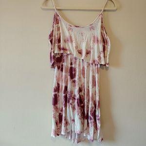 Charlotte Russe tie dye flounce sundress sleeveles